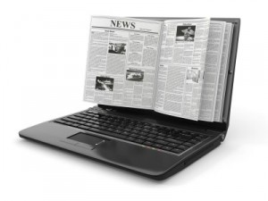 newsletter laptop